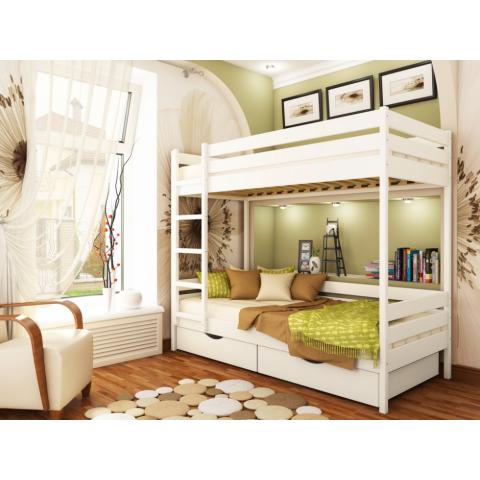 Двоярусне дерев'яне ліжко ДУЕТ (Щит)