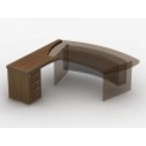 Приставний стіл з тумбою з файловою шухлядою 23СТ44R