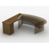 Приставний стіл з тумбою з файловою шухлядою 23СТ45L