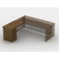Приставний стіл з тумбою з файловою шухлядою 23СТ48R