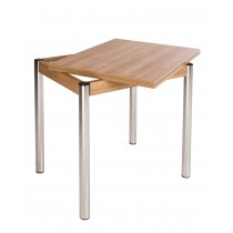 Розкладний обідній стіл на металевих ніжках KAJA EXT (Кая)